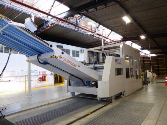 Prefeeder for Top Printer Flexo Converting machine with non-stop shingling